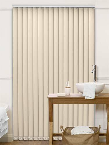Made to measure Plain White sizes Up to 4metres wide Vertical blackout blinds