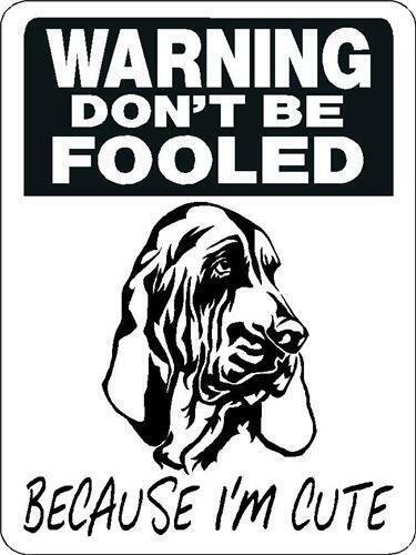"0316 Bloodhound 12""x18"" Aluminum Sign"