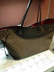 louis vuitton used bags. louis vuitton neverfull gm damier used bags