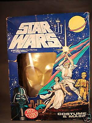 1977 Vintage Ben Cooper C-3PO Kostüm mit Box Medium