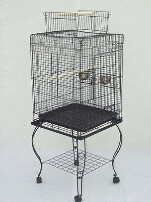 NEW Large 58-Inches Open Play Top Parrot Bird Cage With Removable Stand 670