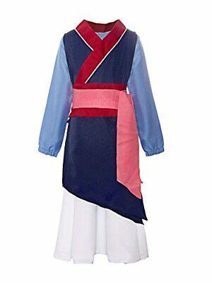 Mulan Halloween Costume (ReliBeauty Big Girls Heroine Mulan Halloween Costume 3-Piece Dress up [Size)