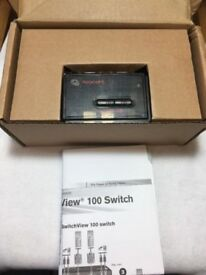 Avocent SwitchView 100 Series 2 Port PS/2 Desktop KVM Switch + Audio Cable Sets