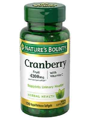 - 120 Cranberry Fruit 42000 mg Plus Vitamin C Nature's Bounty Health Supplement
