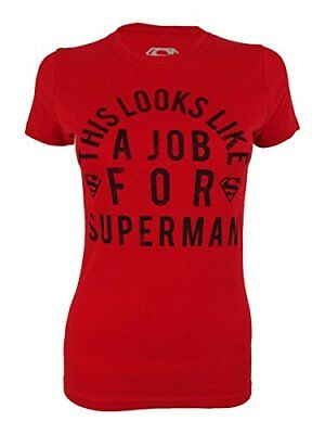 Bioworld Womens This Looks Like A Job For Superman Graphic T-Shirt red - Superman T Shirt For Womens