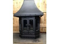 Dovre black cast iron stove multi-fuel Model 2700