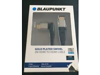 Blaupunkt Gold Plated Swivel 2m HDMI to HDMI Cable