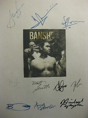 Banshee Signed TV Script X10 Anthony Starr Ivana Milicevic Frankie Faison reprnt