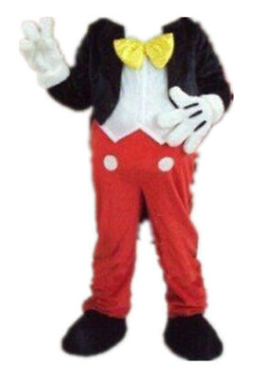 Adult Mascot (Mickey Mouse Mascot Costume Adult Body Suit Halloween Party Dress Cosplay)