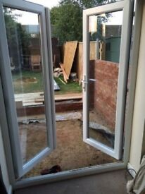 BRAND NEW WHITE UPVC FRENCH DOORS, 1100MMX2100MM SUPPLY ONLY
