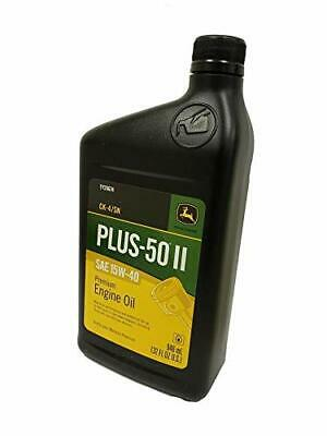 John Deere Original Equipment 4 Quarts Plus-50 Ii Sae 15w-40 Oil Ty26674 4