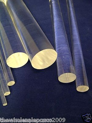PERSPEX ACRYLIC PLASTIC CLEAR RODS ASSORTED SIZE HOBBY CRAFT PACK