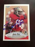 Jerry Rice Autograph