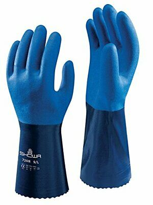 Showa Atlas 720r Fully Coated Chemical Resistant Pvc Work Gloves Size M-xxl