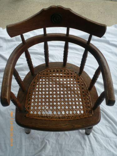 Antique Wood Child S Chair Ebay