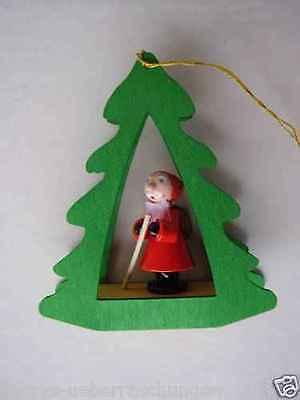 Erzgebirge Holz Baumbehang Weihnachtsmann Nikolaus RG Glässer Seiffen