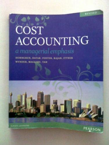 cost accounting horngren textbooks ebay. Black Bedroom Furniture Sets. Home Design Ideas