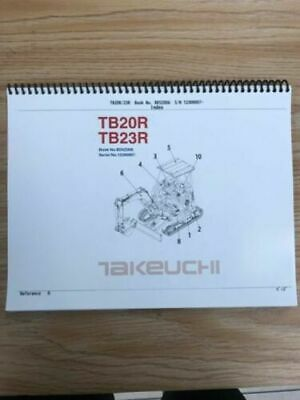 Takeuchi Tb20r Tb23r Parts Manual Sn 12300007 And Up Free Priority Shipping