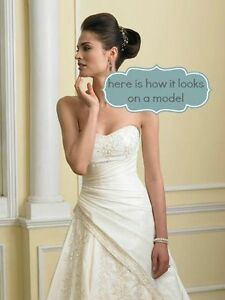 Sophia Tollie Ivory Wedding Dress Sz 10