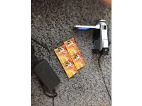 SONY digital handycam, charger and 4 unopened SONY digital video cards