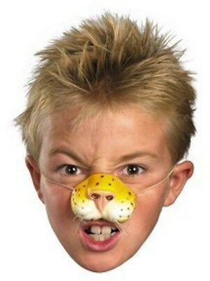 Kids Tiger Nose Whiskers Costume Latex Mask Child Boys Girls Leopard Cat Cheetah](Cat Whiskers Costume)