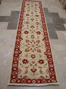 Exclusive Chobi Zeigler Mahal Vege Dyed Hand Knotted Carpet Rug Runner (10.2 x 2.6)'