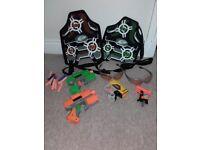 Nerf pistols and vests