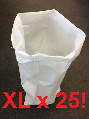 25 Extra Large Woven Polypropylene WPP Sacks Strong Rubble Bags Size 60x100cm XL