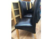 6 Faux Brown Leather Dining Chairs for collection Richmond TW10