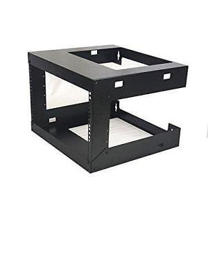 15 Inch Open Frame (6U Wall Mount Open Frame 19'' Server Equipment Rack Threaded 15 inch depth)