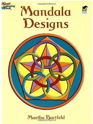 Dover Publications Book, Mandala Designs (Dover Design Coloring Books) by Martha