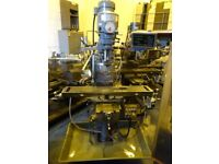 SEMCO MODEL LC1.5 TURRET MILLING MACHINE WITH RAISER BLOCK