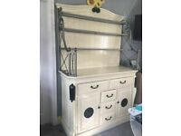 Large Solid Pine Farmhouse Dresser Sideboard Cupboard Cabinet Drawers Storage