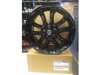 Brand new set of Nissan Juke black alloy wheels 17inch(Qashqai,Leaf)5x114,3
