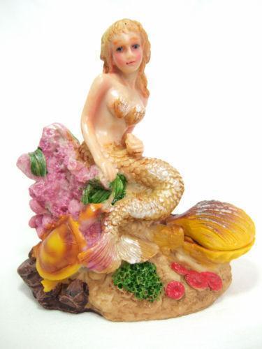Fish tank mermaid decorations ebay for Little mermaid fish tank decor
