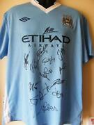Signed Manchester City Shirt Proof