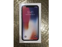 iPhone x 256gb BRAND NEW AND SEALED