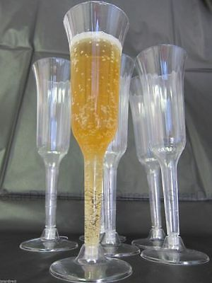 WEDDING - 120 240 360 PLASTIC CHAMPAGNE WINE FLUTES GLASSES!!  - Champagne Cups