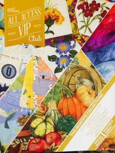 SEPTEMBER 2015 Anita Goodesign Embroidery Designs (CD ONLY) ALL ACCESS VIP Club