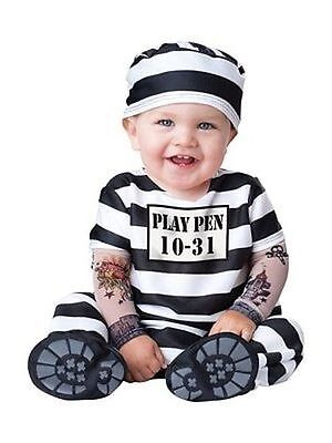 Incharacter Time Out Jail Inmate Infant Halloween Baby Toddler Costume - Toddler Inmate Costume
