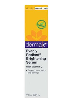 DermaE Natural Bodycare Evenly Radiant Brightening Serum 2 fl oz