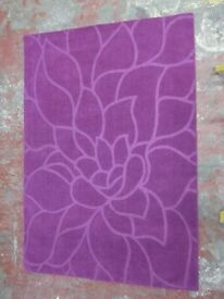 CHEZ-TOI CHRYSANTHEMUM RUG - PURPLE - 160 x 230 cm 100% WOOL - £10!!!!