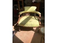 """Antique Victorian Pair of Tub Chairs Seating Lounge """"You choose reupholster type"""""""