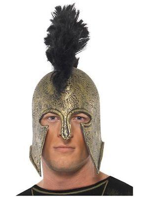 Men's Gladiator Achilles Fancy Dress Helmet Spartacus Fantasy Stag Theme Fun Do