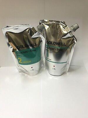 GOLDWELL Structure + Shine AGENT 1 Softening Cream 2 MEDIUM + Neutralizing