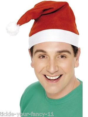 Men's Budget Santa Hat Christmas Party Novelty Xmas Fun Fancy Dress Stag Theme  ()
