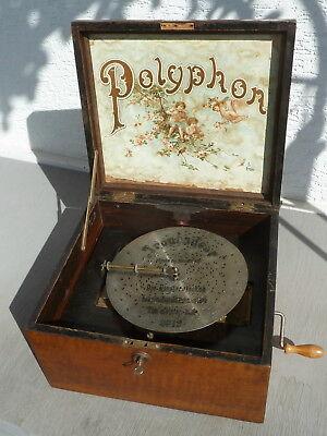 Spieluhr - Polyphon, Troubadour, m. 4 Glocken u. 6 Pl. (Symphonium, Symphonion)