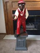 spelter black dating site Antique / vintage black americana spelter lawn jockey cavalier spirit statue this lawn jockey statue is shelf size, statue in itself is 9 tall and 125.