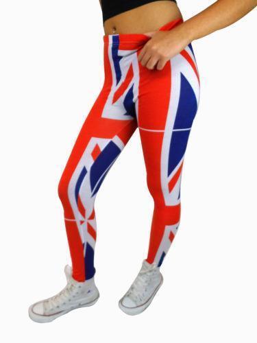 3e59b69a23cc2 Union Jack Leggings | eBay