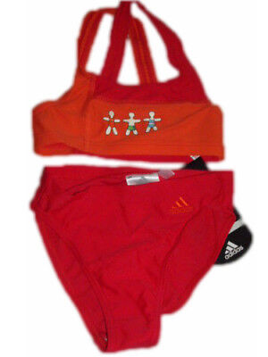 Adidas Mädchen Bikini Gr. 104 rot neu